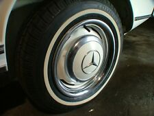 "MERCEDES w113 230sl 250sl 4 x 14"" beauty trim rings chrome w111 hub cap 220se"