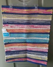 Chindi Rug Colorful Multicolor Boho Woven Rag Shabby Chic Braided Striped 20x30