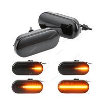2x Dynamische LED Seitenblinker Blinker Smoke 14805294 Für VW Golf MK6 Seat Ford