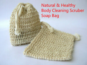 Natural Sisal Bag Ramie Soap Sack Soap Sack Bath Body Scrubber Exfoliator Shower