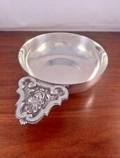 LARGE CHRISTOFLE FRENCH SILVERPLATE BOWL W/ CROWNED FIGURE: NO MONOGRAM