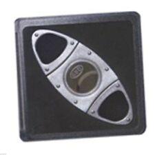 GBD 2 Finger Double Blade Silver Finish Cigar Cutter in Case CU6560