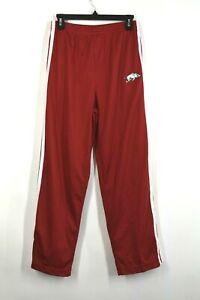 NCAA Juniors Arkansas Razorbacks Stretch Waist Red Joggers Stitch Emblem Size XL
