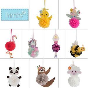 Trimits Pom Pom Craft Kit Hanging Decoration Children Kids Adults Beginners