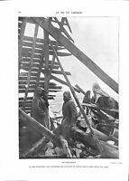 WWI Poilus Bataille de la Marne Guetteurs Soldats Clocher Eglise ILLUSTRATION