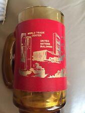 Vintage New York Skyline Pre 9/11 Mug World Trade Center Glass Twin Towers