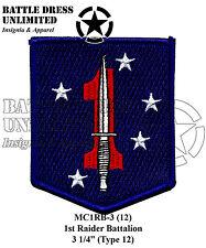 Patch, Marine Corps: 1st Raider Bn (USMC Raiders)