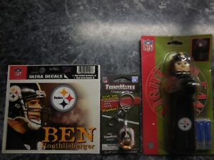pittsburgh steelers light up fan 1teenymates key chain/ 1 ben roethlisberger dec