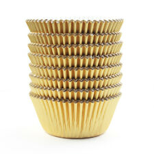 Gold Foil Metallic Cupcake Case Liners Baking Muffin Paper Cases 198Pcs
