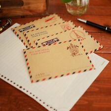 10pcs Vintage Kraft Paper Envelope Letter Invitation Postcards Paper Letter Set