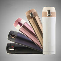 Stainless Steel Hot Cup Bottle Travel Vacuum Insulated Thermal Tea Coffee Mug BS