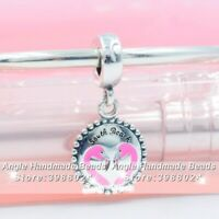 Authentic 925 Sterling Silver South Beach Flamingo Dangle Charms Fit  Bracelets