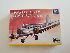 Italeri JUNKERS JU-52 TANTE JU No 102 - Modellbau - Bausatz -Modelkit 1:72 1/72