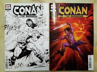 CONAN THE BARBARIAN 1 ASRAR BLACK & WHITE + FAGAN VARIANT COVER MARVEL 2019 LOT
