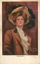 1909 Tomorrow Girl - Philip Boileau Art Postcard