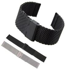 18mm 20mm 22mm Mesh Stainless Steel Milanese Watch Band Strap With Spring Bars