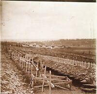 Grande Guerre 14-18 Verdun Cimitero Francia Foto PL51L14n Placca Vintage
