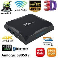 X96 MAX 4GB/64GB Android 8.1 TV BOX S905X2 Quad Core 4K WiFi 3D HDR Media BT4.1