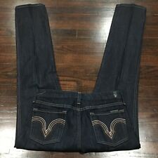 7 for all mankind Straight Leg Distressed Jeans Women's Sz 26 Stretch Low Rise