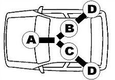 VAUXHALL TIGRA Mk1 1.4 Handbrake Cable Right 94 to 00 X14XE Hand Brake Parking