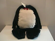 PENGUIN HALLOWEEN COSTUME FOR AGES 2 AND 3 MADE OF BRUSHED CORDUROY CUTE NICE!