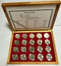 Singapore 1967-1985 Stylised Lion $1 Copper Nickle Coin In Wooden Box.