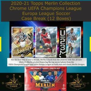 Marco Verratti 2020-21 Topps Merlin Chrome UEFA Case Break (12 Boxes) #2