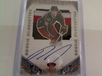 Panini crown royale rookie silhouettes Ryan Johansen blue jackets patch/auto