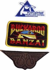 Buckaroo Banzai Tv Series Uniform/Costume Cosplay Patch Set of 3