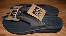 NWT Mens REEF Flex LE Brown Leather Upper Cushion Sandals Shoes Flip Flops Sz 9