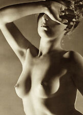 VINTAGE CLASSIC TORSO NUDE WOMAN RISQUE DECO ERA FINE EUROPEAN BREASTS PHOTO