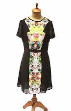 Prabal Gurung For Target Ladies First Date Black Floral Mirror Print Dress Sz 6
