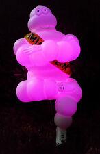 Advertise Michelin Man 5 Inch Bibendum Figure Doll Tire Limited with Pink Light