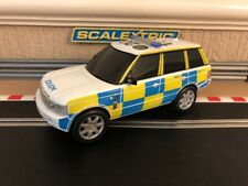 Scalextric Range Rover Police / Flashing Lights & Siren 360 Degree Spin Serviced
