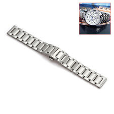 18mm 20mm 22mm 24mm Stainless Steel Metal Watch Strap Band Silver Color