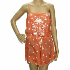 New Eloise Anthropologie Embroidery Women Spaghetti Romper Dress S 7371
