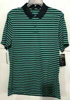 Men's SZ M Nike Golf Victory Stripe DRI-FIT Polo Shirt Emerald/Navy  891853 370