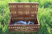 1970s vintage rattan chest