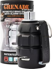 Motorrad Bremsscheibenschloss mit Alarmsystem - Schwarz Matt