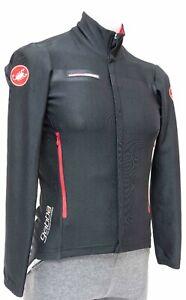 Castelli Rosso Corsa Gabba Wind Jacket Men SMALL Black Cycling Road Bike Gore
