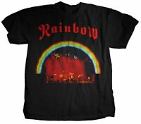RAINBOW COLORFUL ON STAGE LIVE  ROCK ROLL MUSIC HEAVY METAL BAND T SHIRT S-XL