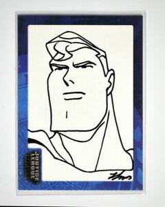 Justice League SK1 SUPERMAN SKETCH CARD #142/451 SIGNED Sung-Man Huh Inkworks