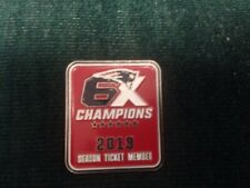 New England PATRIOTS  2019 SEASON TICKET HOLDERS 6X  CHAMPIONS  LAPEL PIN
