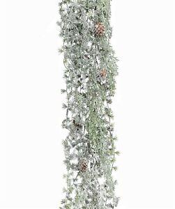 Künst. LÄRCHENGIRLANDE 125 cm Lärche Girlande Tannengirlande GEFROSTET 103725-00
