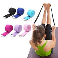 Sport Yoga Stretch Strap D-Ring Belts Gym Waist Leg Fitness Train Training 183cm