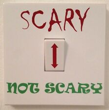 Scary Not Scary Halloween Light Switch Sticker Wall Art Removable