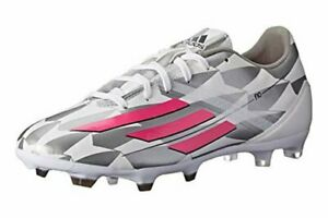 New Adidas Women's F10 TRX GF Low Soccer Cleats White, Pink and Gray