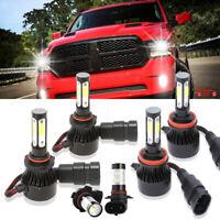 6X Combo LED Headlight Bulbs Fog Light H11 9005 9145 for Ram 1500 2500 2011-2017