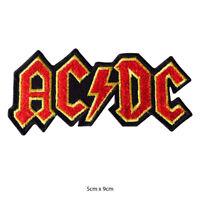 AC DC Music Band Embroidered Patch Iron on Sew On Badge For Clothes Bags etc
