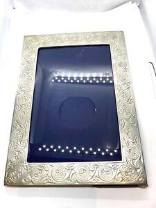 Vintage Scottish Celtic Knotwork Swirl Design Freestanding Pewter Picture Frame